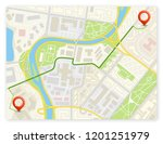 city map navigation delivery... | Shutterstock . vector #1201251979