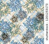 seamless pattern patchwork...   Shutterstock . vector #1201253173