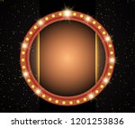 poster template with retro...   Shutterstock .eps vector #1201253836