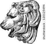 sculpture of a lion's head | Shutterstock .eps vector #120125494