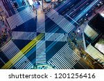 sukiyabashi intersection of...   Shutterstock . vector #1201256416