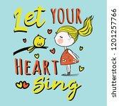 kids wear baby girl statement... | Shutterstock .eps vector #1201257766