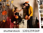 playful small girl celebrate...   Shutterstock . vector #1201259269