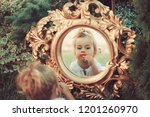 baby girl make up face at...   Shutterstock . vector #1201260970