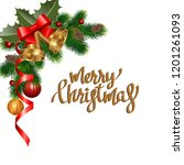 christmas background with fir... | Shutterstock .eps vector #1201261093