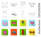 vector illustration of woman... | Shutterstock .eps vector #1201262356