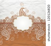 background with paisley | Shutterstock .eps vector #120126820