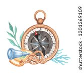 compass on a white background.... | Shutterstock . vector #1201269109