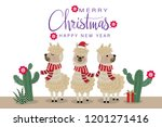 merry christmas greeting card... | Shutterstock .eps vector #1201271416