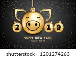 pig is a symbol of the 2019... | Shutterstock .eps vector #1201274263