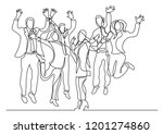 continuous line drawing of... | Shutterstock .eps vector #1201274860
