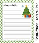 letter to santa template ... | Shutterstock .eps vector #1201280440