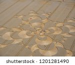 crop circle in a cornfield at... | Shutterstock . vector #1201281490