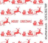 christmas 2019 seamless pattern.... | Shutterstock .eps vector #1201282789