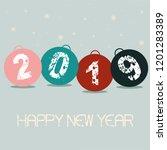 illustration of new year balls. ... | Shutterstock .eps vector #1201283389