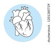 human heart symbol | Shutterstock .eps vector #1201285729