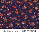 seamless gorgeous bright... | Shutterstock . vector #1201292383