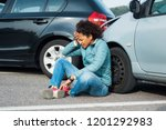 injured black woman after bad... | Shutterstock . vector #1201292983