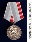 soviet labour awards medal... | Shutterstock . vector #1201303579