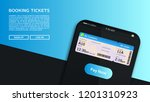 concept of online booking for... | Shutterstock .eps vector #1201310923