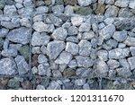 texture of gabion fences  wire... | Shutterstock . vector #1201311670