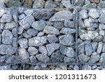 texture of gabion fences  wire... | Shutterstock . vector #1201311673