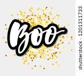 slogan boo phrase graphic...   Shutterstock .eps vector #1201311733