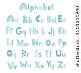 vector cute alphabet letters set | Shutterstock .eps vector #1201311940