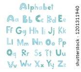 vector cute alphabet letters set | Shutterstock .eps vector #1201311940