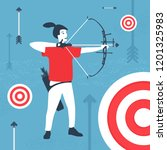 vector illustration archer and... | Shutterstock .eps vector #1201325983