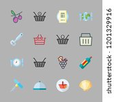 wine icon set. vector set about ... | Shutterstock .eps vector #1201329916