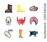 leg icon set. vector set about... | Shutterstock .eps vector #1201330126