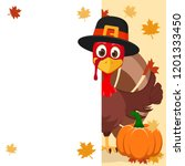 The Turkey In Hat Peeps Out...