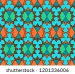 oriental arabic ornament....   Shutterstock .eps vector #1201336006
