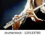 flute music playing flutist...   Shutterstock . vector #120133780