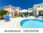 exterior of a luxurious villa... | Shutterstock . vector #120134236