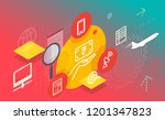 bill payment and recharge...   Shutterstock .eps vector #1201347823