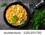 healthy vegetarian vegetable... | Shutterstock . vector #1201351750