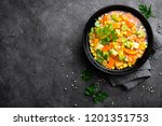 healthy vegetarian vegetable... | Shutterstock . vector #1201351753