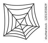 spider web thin line icon.... | Shutterstock .eps vector #1201353829