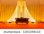 indian wedding stage.indian... | Shutterstock . vector #1201358110