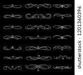 vector dividers calligraphic... | Shutterstock .eps vector #1201360396