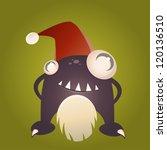 funny xmas monster | Shutterstock .eps vector #120136510