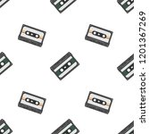 retro seamless background with... | Shutterstock . vector #1201367269