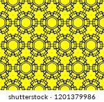 modern seamless geometric... | Shutterstock .eps vector #1201379986