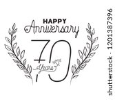 number 70 for anniversary... | Shutterstock .eps vector #1201387396