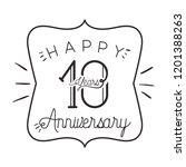 number 10 for anniversary... | Shutterstock .eps vector #1201388263