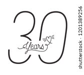 number 30 for anniversary... | Shutterstock .eps vector #1201389256