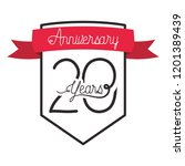 number 20 for anniversary... | Shutterstock .eps vector #1201389439