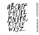 english vector nursery alphabet.... | Shutterstock .eps vector #1201393309